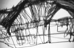 Wire House Drawing - shadow 2005 by Annalise Rees